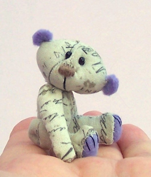 Mortimer, mini fabric teddy bear kit