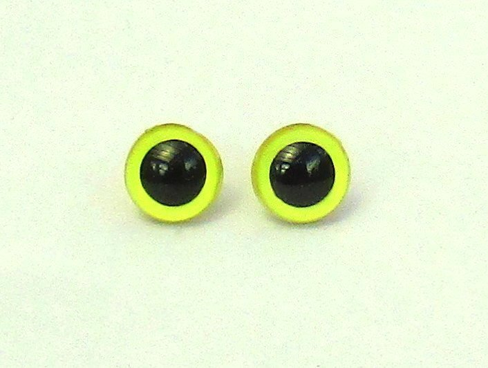 Yellow Pearl Plastic Safety Eyes - 9mm