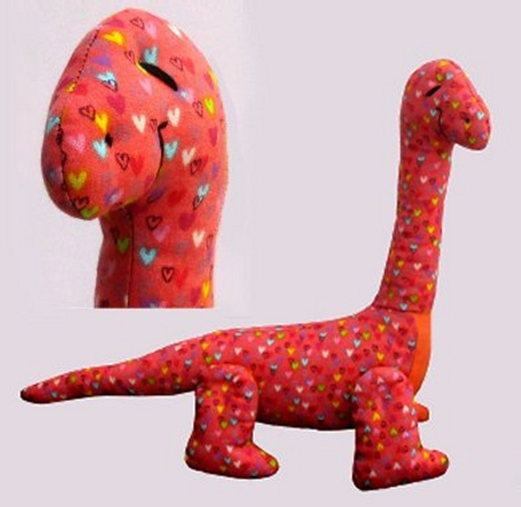 Dippy dinosaur sewing pattern