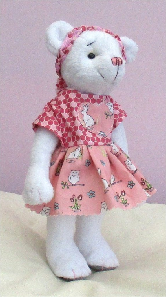 Phoebe soft toy teddy bear digital sewing pattern