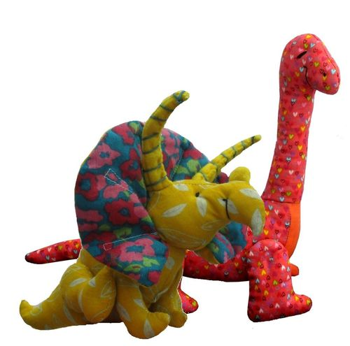 Dinosaur soft toy sewing pattern bundle (pack of 2 patterns)