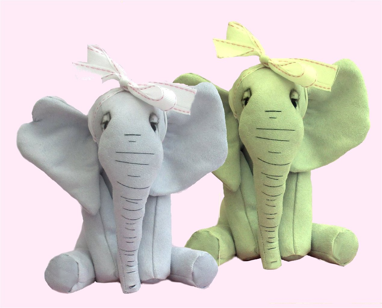 Abigail elephant soft toy sewing kit