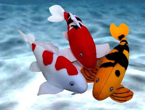 Colourful Koi Felt Fish Kit