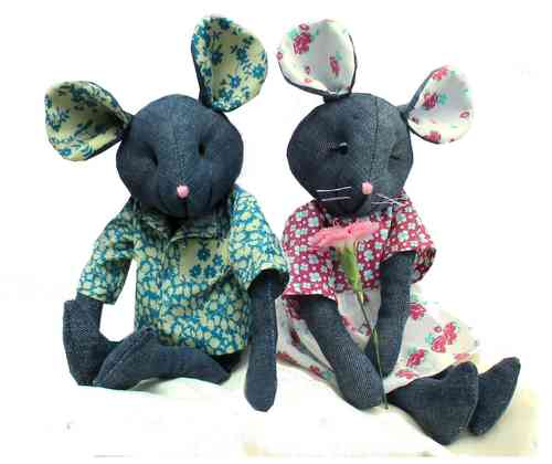 Raggedy Mice Soft Toy Sewing Pattern