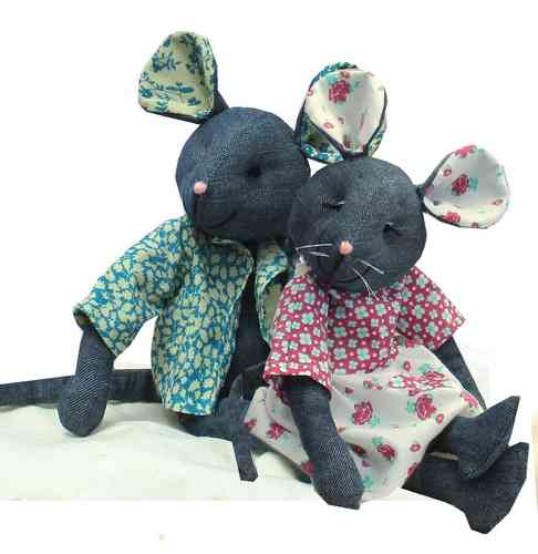 Raggedy Mice  Sewing Pattern Digital Download