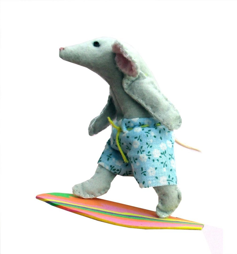 Felt Surfing Mouse Sewing Kit