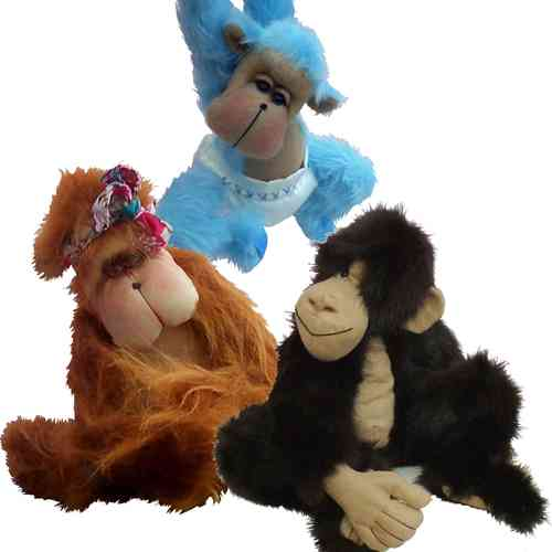Mirtle and Jaffa soft toy monkey patterns (pack of 2)