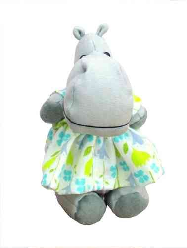 Hildegard Hippo digital soft toy sewing pattern
