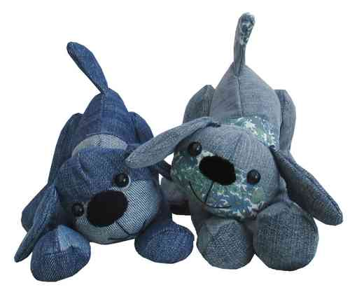 Denim Dawg soft toy sewing pattern