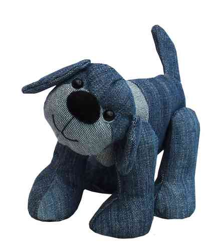 Denim Dawg, a raggedy soft toy sewing pattern (digital)