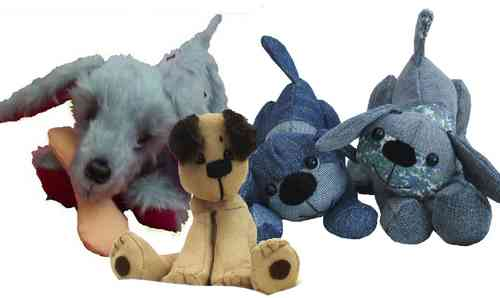 Pack of three fun soft toy dog sewing patterns
