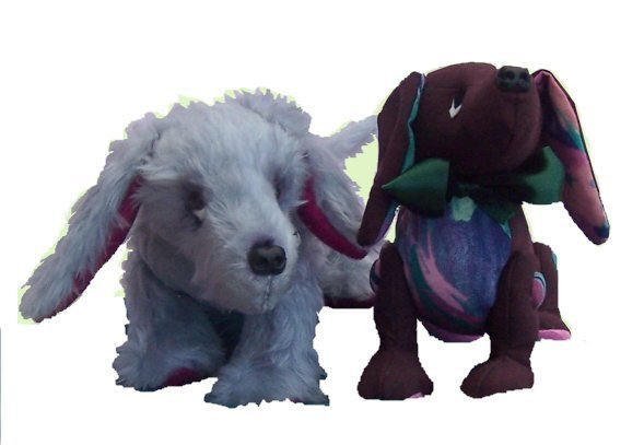 Pack of three fun soft toy dog sewing patterns - pcbangles