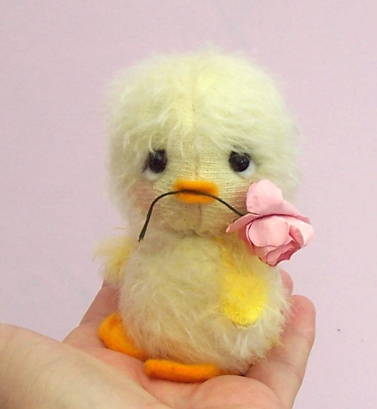 Chirrup Chick soft toy mohair sewing kit