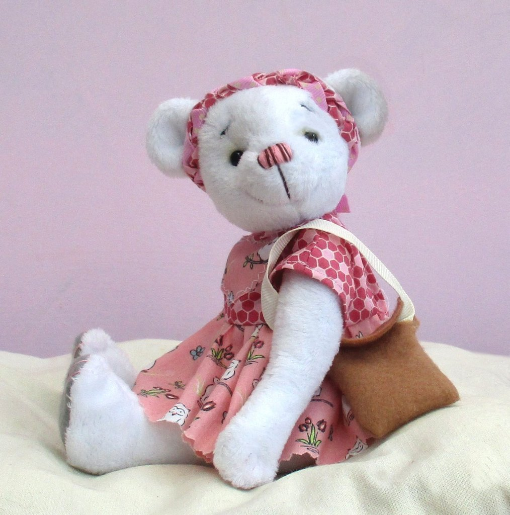Phoebe dressed teddy bear sewing pattern