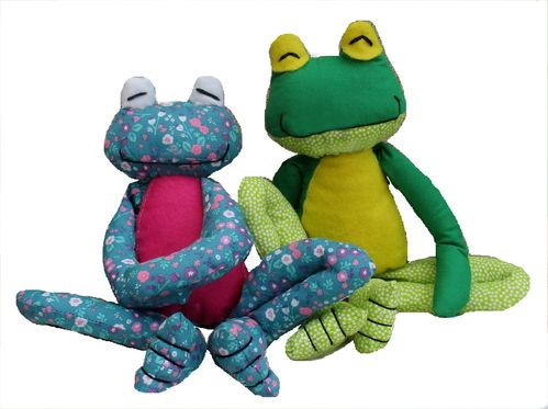 Fritz Frog digital soft toy sewing pattern