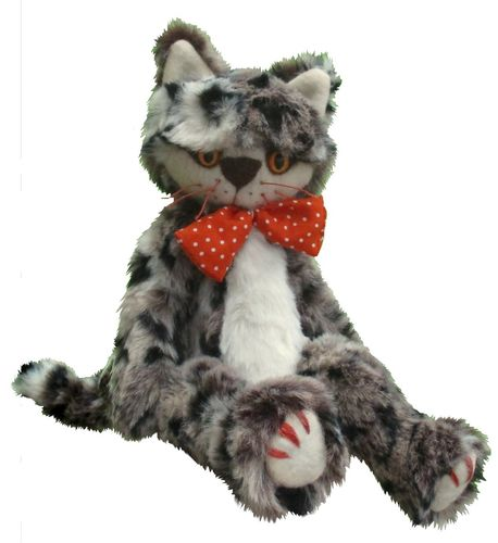 Claude soft toy cat sewing pattern
