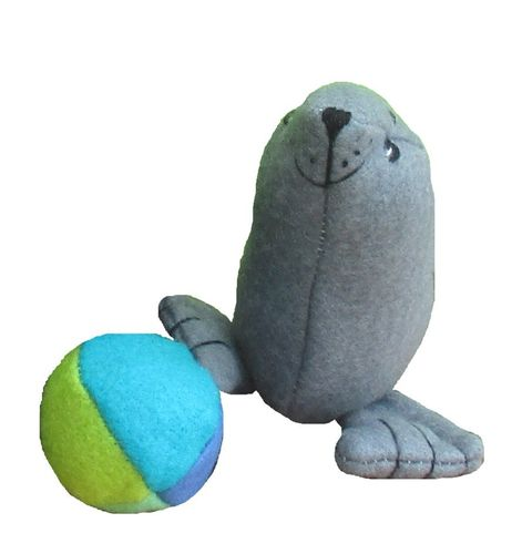 Salty soft toy seal sewing pattern