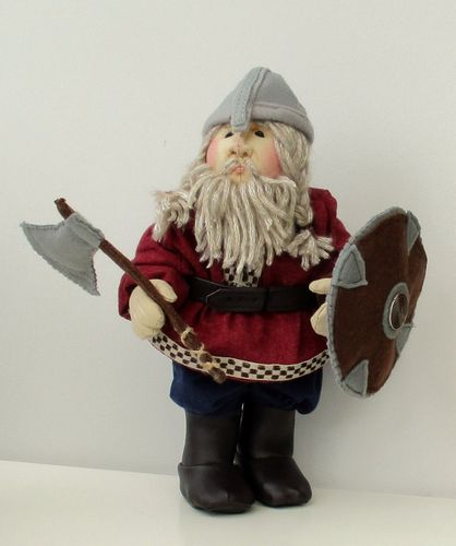 Halvard fabric viking warrior doll soft toy sewing pattern