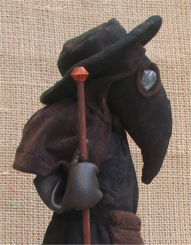 Plague Doctor historical art doll sewing pattern