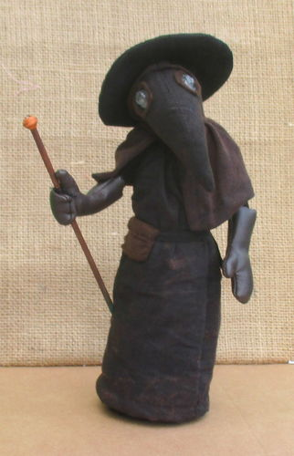 Plague Doctor digital historical art doll sewing pattern PDF