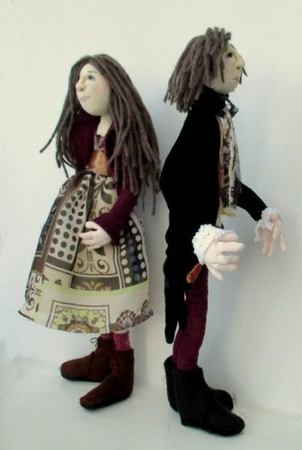 Jacasta and Oberon digital cloth doll sewing pattern  PDF