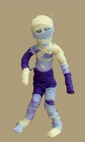 Kloth fabric, bendy Egyptian Mummy sewing pattern