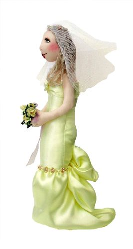 Beau digital bride cloth doll sewing pattern PDF
