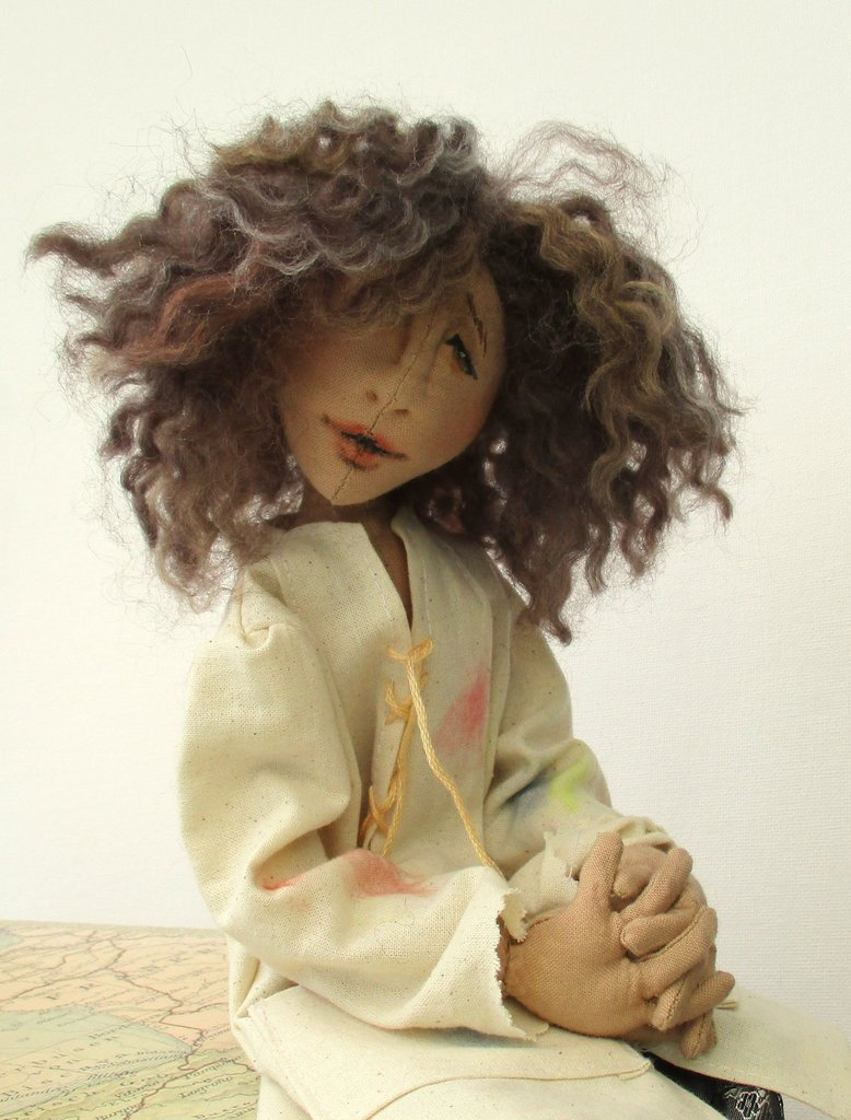 Rembrandt artist cloth doll sewing pattern   PDF
