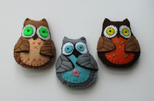 OLLIE OWL digital felt soft toy sewing pattern PDF