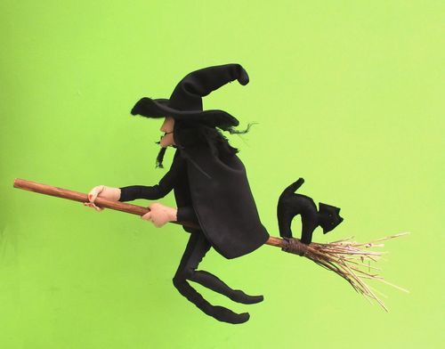 Mistress Cackle digital cloth doll witch sewing pattern  PDF