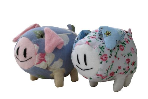 Percy pig digital soft toy sewing pattern  PDF