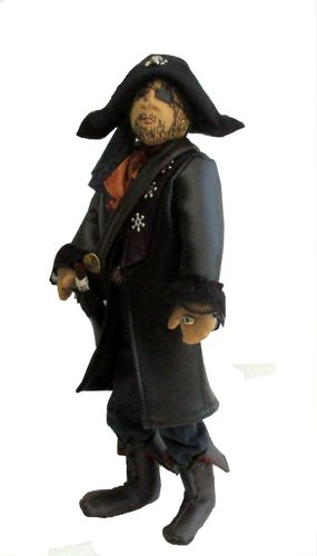 Captain Crafty cloth doll sewing pattern.  Dressed pirate doll