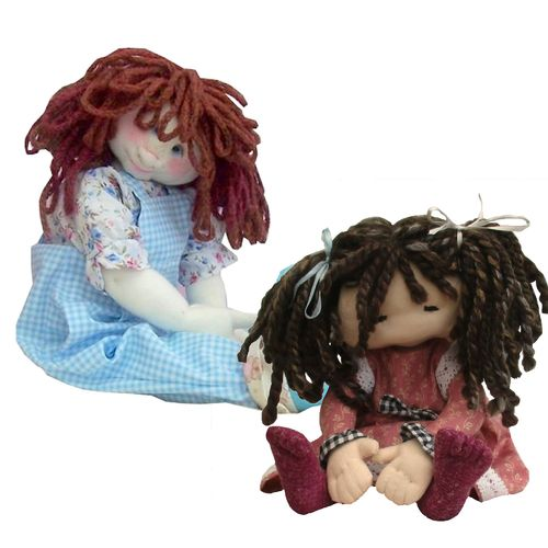 Cute cloth dolls pattern pack.  Includes Dilly and Lottie cloth doll sewing patterns
