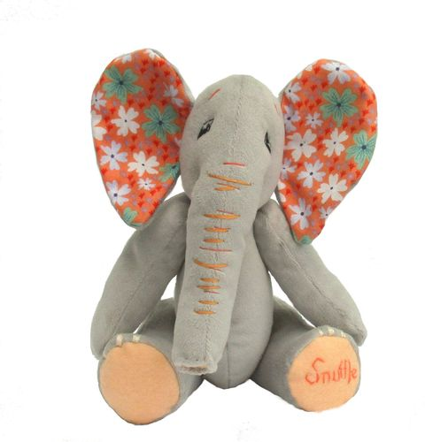 Snuffle soft toy elephant sewing pattern.  PDF    Child-friendly