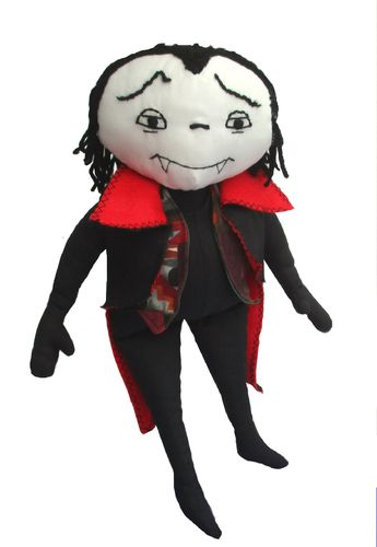 Otto cloth doll vampire sewing pattern  PDF