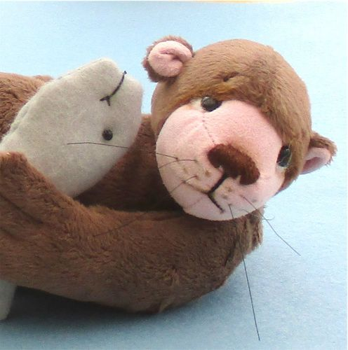 Otis a fun soft toy otter sewing pattern.