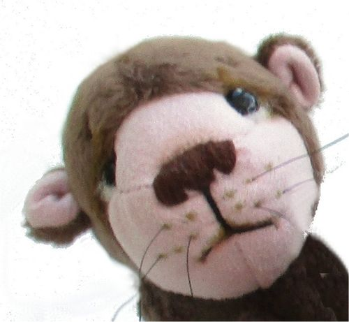Otis digital otter soft toy sewing pattern.  PDF