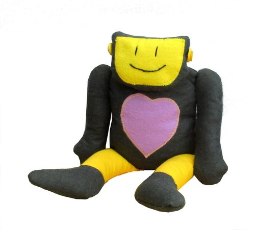 Robo Reg soft felt toy sewing pattern - no joints needed
