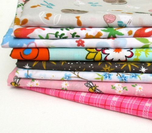 Fat Quarter patterned fabrics - perfect for making dolls clothes or soft toys