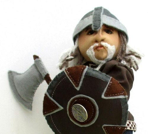 Halvard Viking historical cloth doll.  ooak.