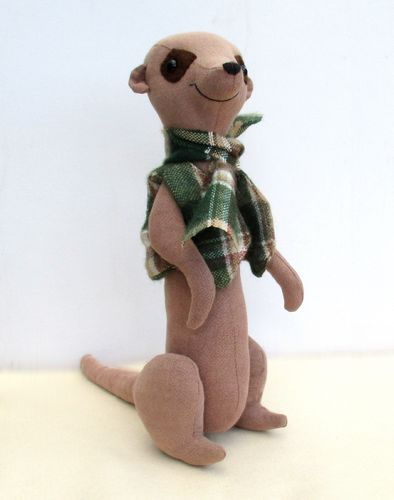 Meercat maurice soft toy sewing pattern. Includes both large and small.