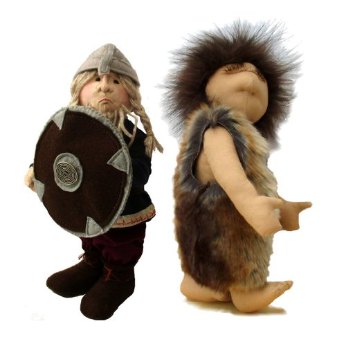 Historic character sewing pattern pack.  Includes viking and caveman patterns