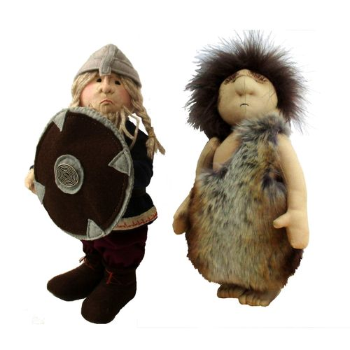 Historic cloth doll sewing pattern  PDF  Includes viking and caveman