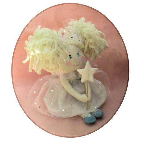 Snowflake fairy cloth doll sewing pattern