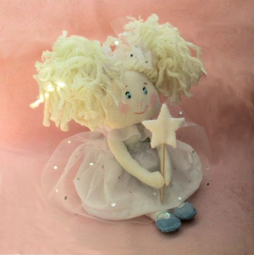 Snowflake fairy cloth doll digital sewing pattern  PDF