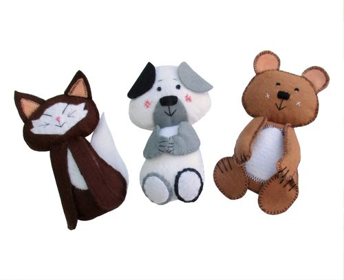 Scribbles pets digital sewing pattern.   Includes kitten, puppy and ted   PDF