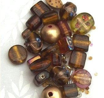 Bead pack - Autumn browns and golds