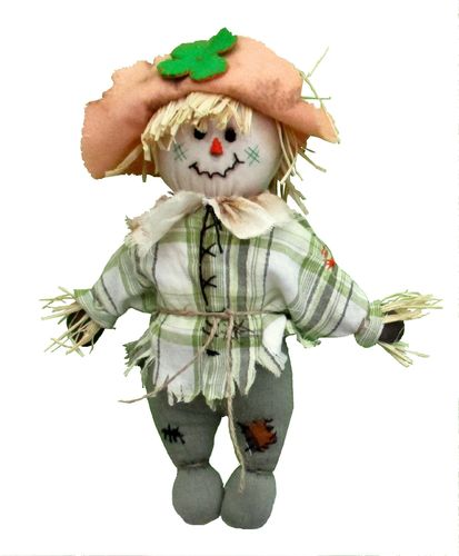 Turnip cloth doll scarecrow sewing pattern.   Indoor and outdoor versions