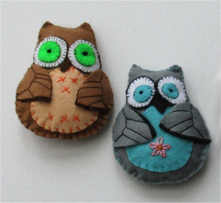 ollie felt owl sewing pattern
