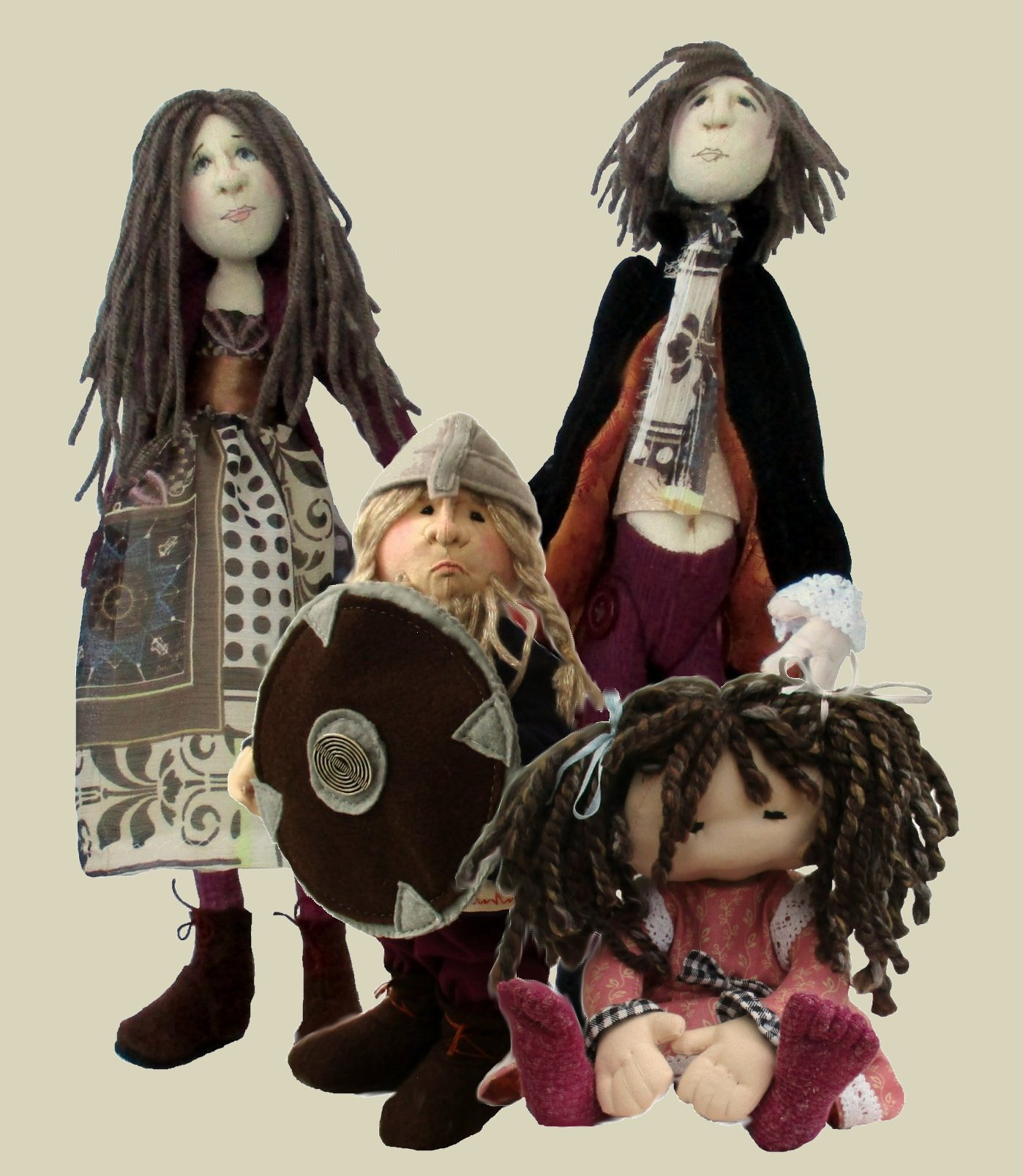 Cloth doll digital sewing patterns PDF
